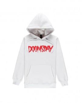 DOOMSDAY - LOGO HOODIE WHITE