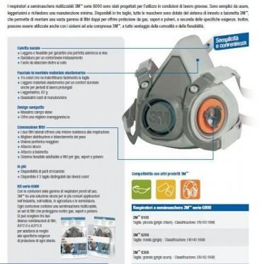 Maschera 3M serie 6000 completa