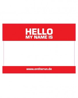 OTR magnets - HELLO MY NAME XL Red