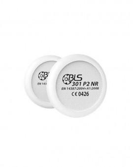 Coppia PreFiltri di ricambio P2 (polveri e fumo) per maschera BLS 4000R
