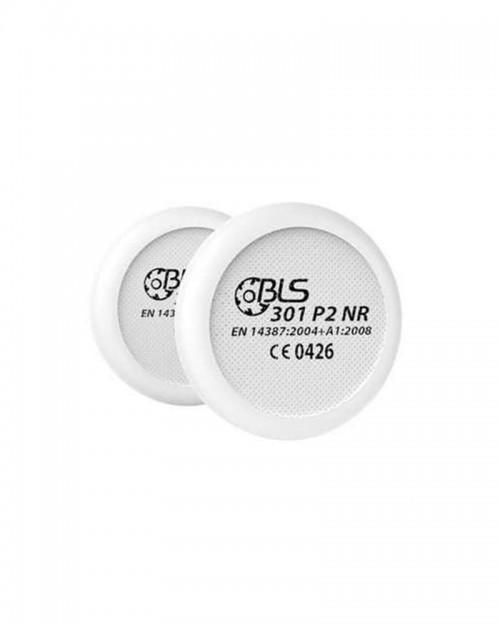 Coppia PreFiltri ricambio P2 (polveri e fumo) maschera BLS 4000R
