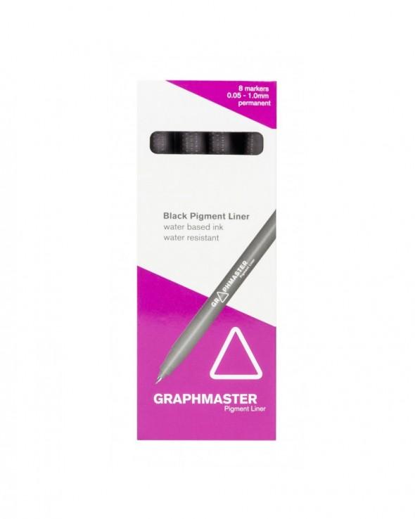 GraphMaster Black Pigment Liner 8pz Set