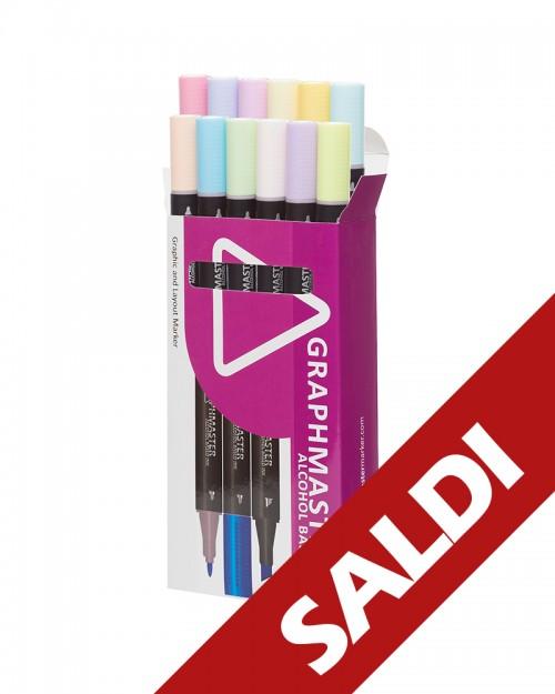 GRAPHMASTER Set B Pastel 12 Colori