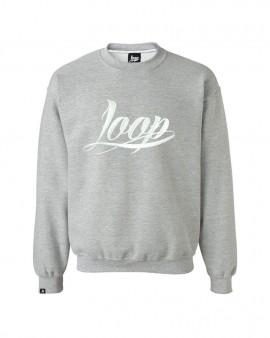 Loop x Wrung Crewneck LOGO Grey