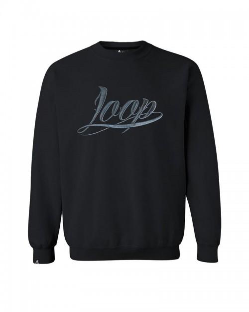 Loop x Wrung Crewneck LOGO Black
