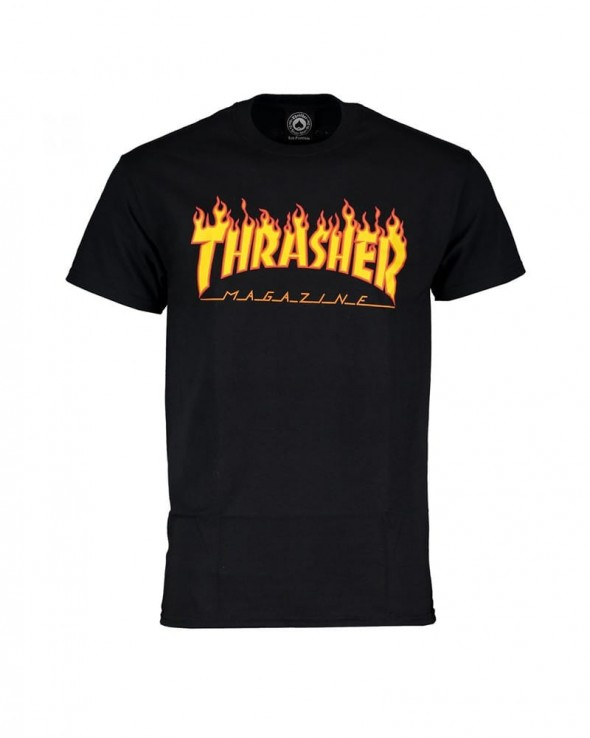 Trasher Flame T-shirt Black