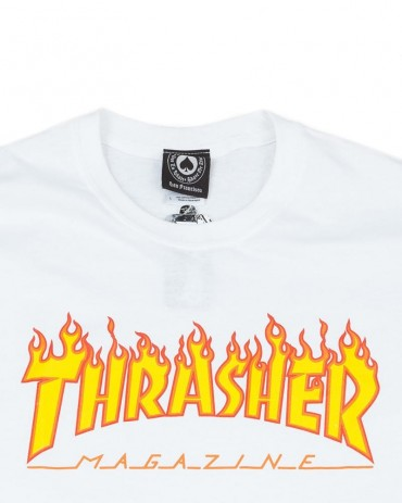 Thrasher Flame T-shirt White