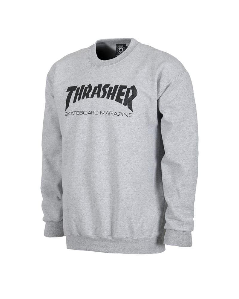 Thrasher Skate Magazine Crewneck Grey