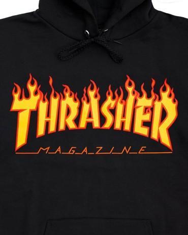 Thrasher Flame Hood Black