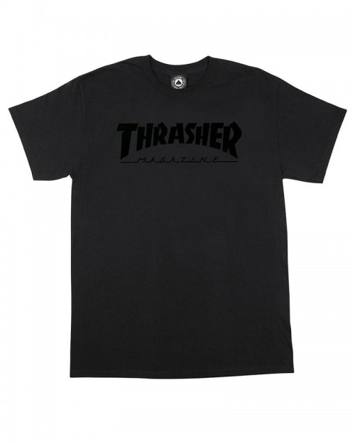 Thrasher Magazine Logo Black on Black