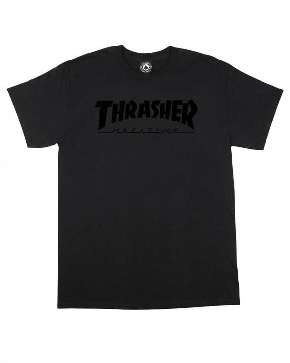 Thrasher Magazine Logo Black on Black