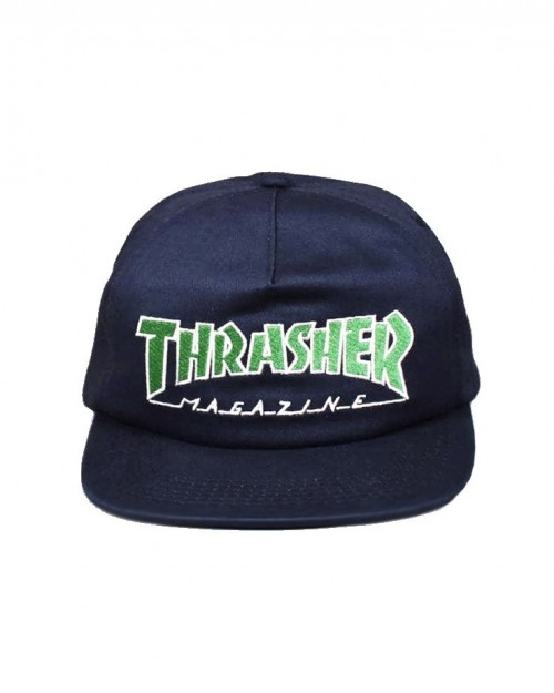THRASHER Outline Snapback blue