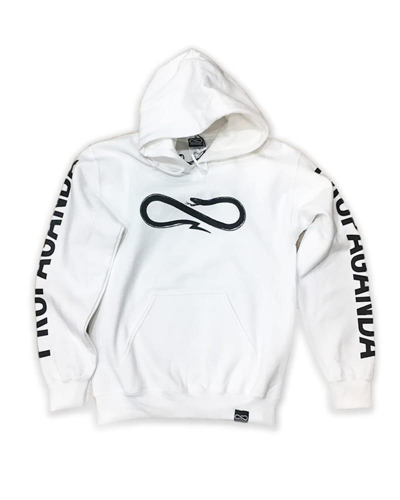 PROPAGANDA Hoodie Logo White