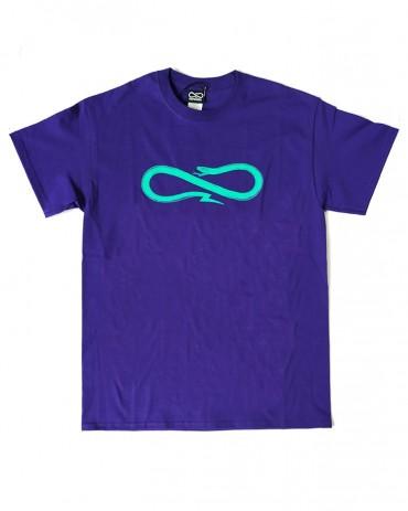 PROPAGANDA Snake tee purple turquoise