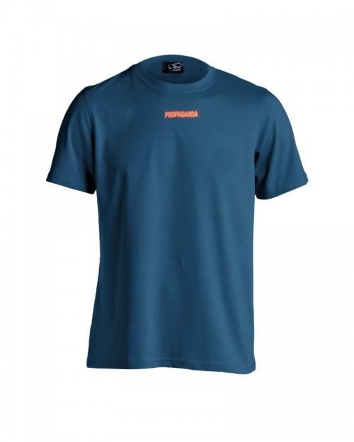 PROPAGANDA Tshirt Ribs Petrol & Fluo Orange