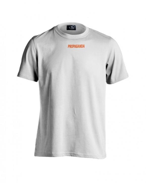 PROPAGANDA Tshirt Ribs White & Orange