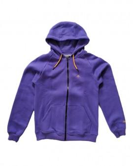 DOLLY NOIRE Logo Purple Yellow Zip Hoodie
