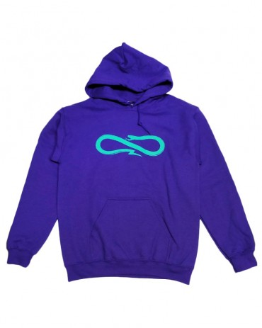 PROPAGANDA Hoodie Violet and Turquoise Snake