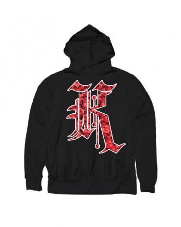 Kali King Hoodie Camo Black & Red