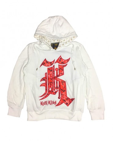 Kali King Hoodie Camo Red and White