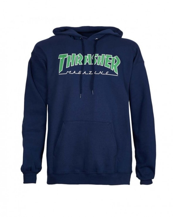Thrasher Magazine Outline Logo Navy Hoodie