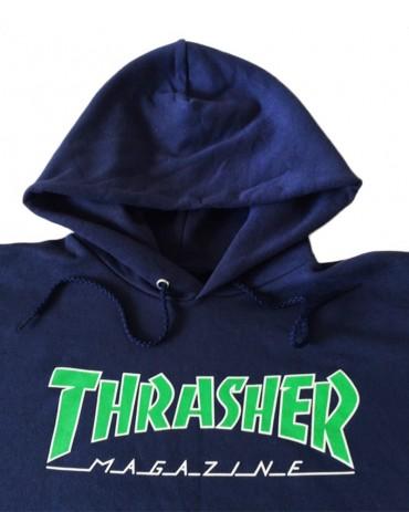 Thrasher Magazine Outline Logo Navy Hoodie