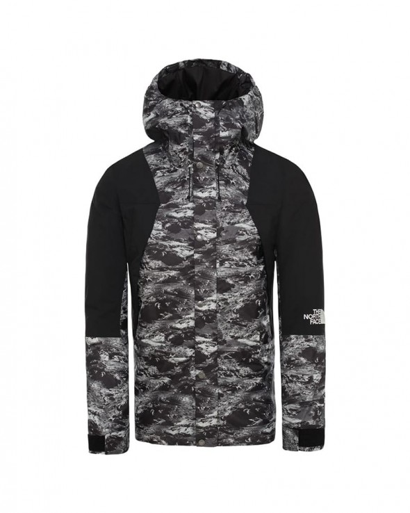 THE NORTHFACE - Giacca Termica Mountain Light Dryvent Black Lunatic Print