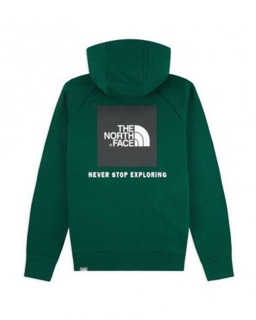 THE NORTHFACE - Felpa Hoodie Raglan Redbox Night Green