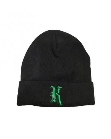 Kali King Black Green Beanie