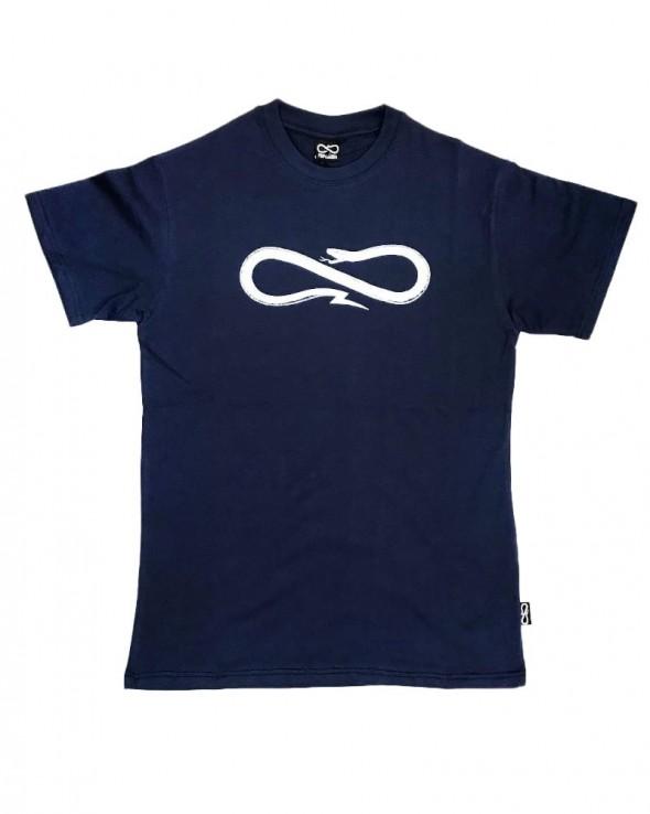 PROPAGANDA Logo Snake Tee Blue
