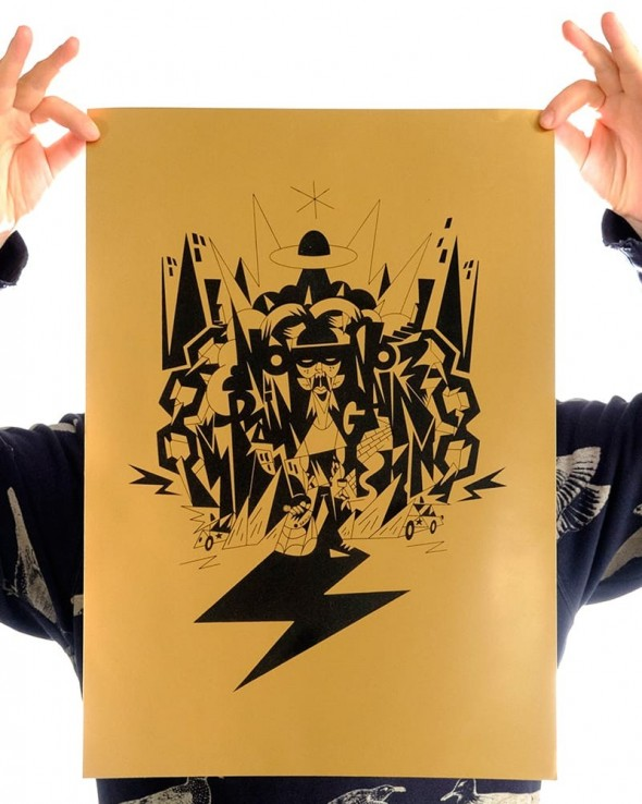 No Pain No Gain by Erics One 30x40 Print Gold Edition