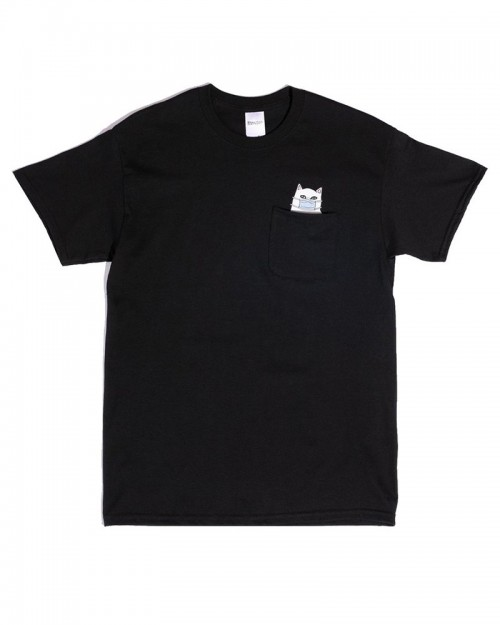 RIPNDIP Lord Nermaphobe Pocket Tee Black
