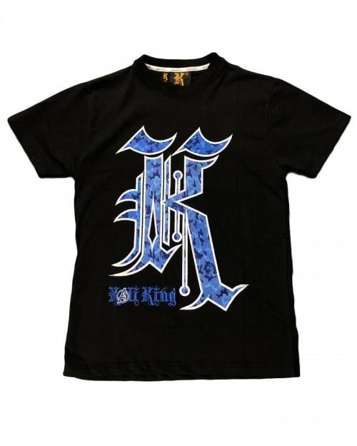 Kali King TShirt Black Blue Camo