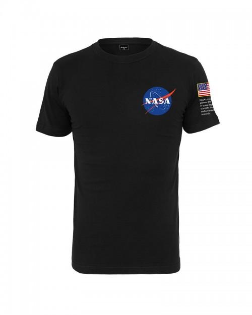 NASA Insignia Logo Flag Tee Black