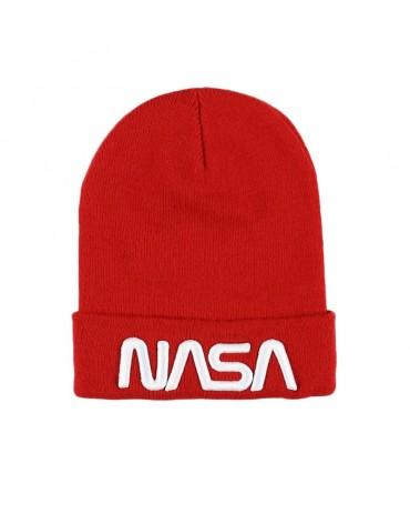 NASA Worm Logo Beanie Red