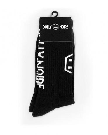 DOLLY NOIRE - Calze Vertical Logo Black