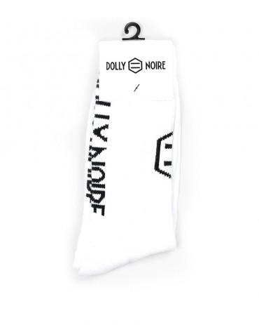 DOLLY NOIRE - Calze Vertical Logo White