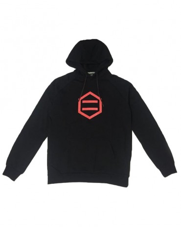 DOLLY NOIRE Hexagon Black & Red Hoodie