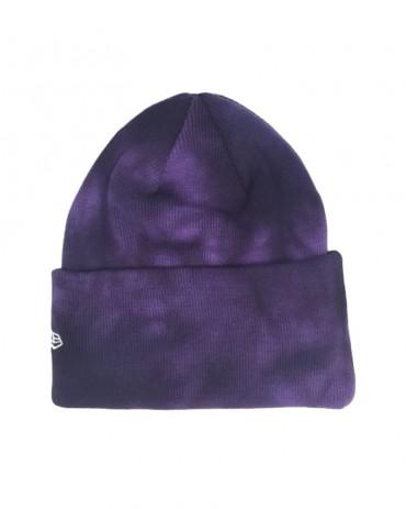 NEW ERA Tie Dye Cuff Knit Purple Beanie
