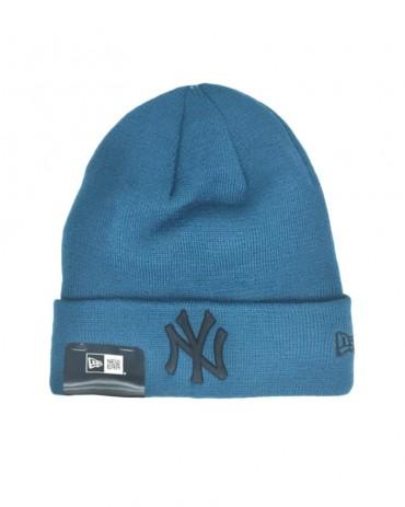 NEW ERA League Essential Cuff Knit NY Yankees Petrolio
