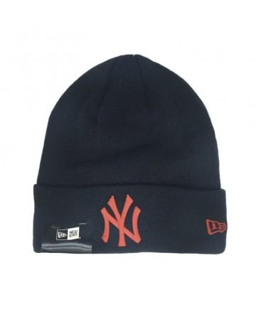 NEW ERA League Essential Cuff Knit NY Yankees Black