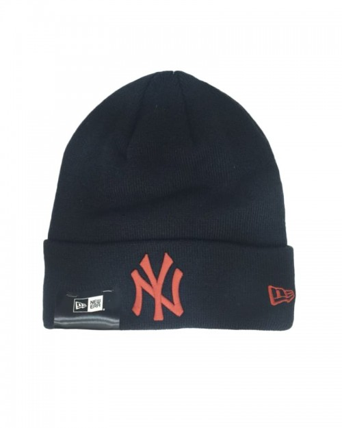 NEW ERA League Essential Cuff Knit NY Yankees Black