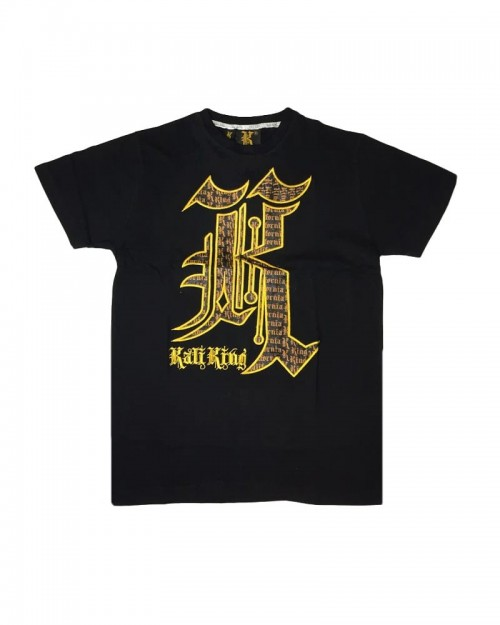 Kali King TShirt Black Gold Camo