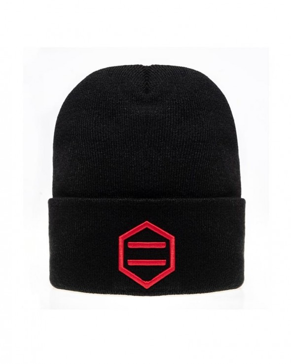 DOLLY NOIRE Black and Red Beanie