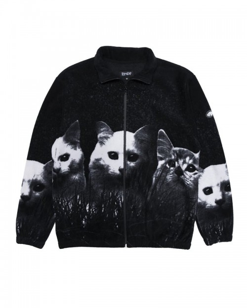 RIPNDIP Field of cats Sherpa Jacket Black