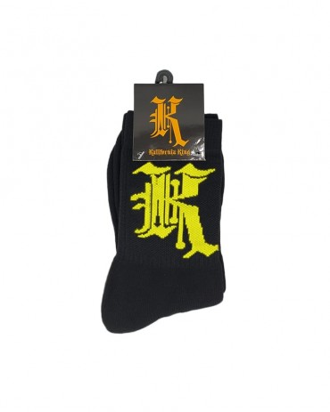 Kali King Calze Logo Black and Yellow