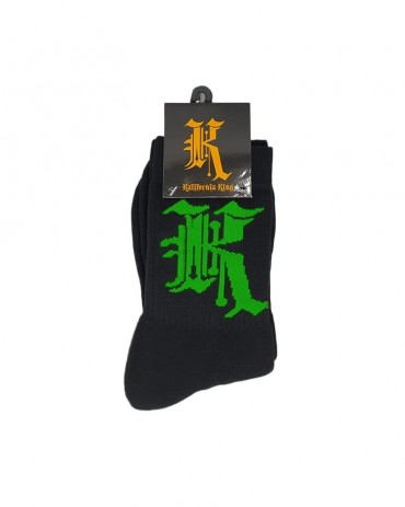 Kali King Calze Logo Black and Green