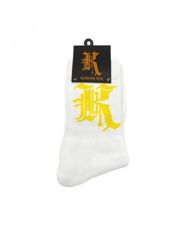 Kali King Calze Logo White and Yellow