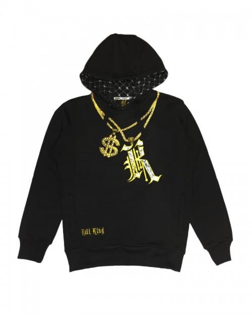 Kali King Felpa Hoodie Bling K Black