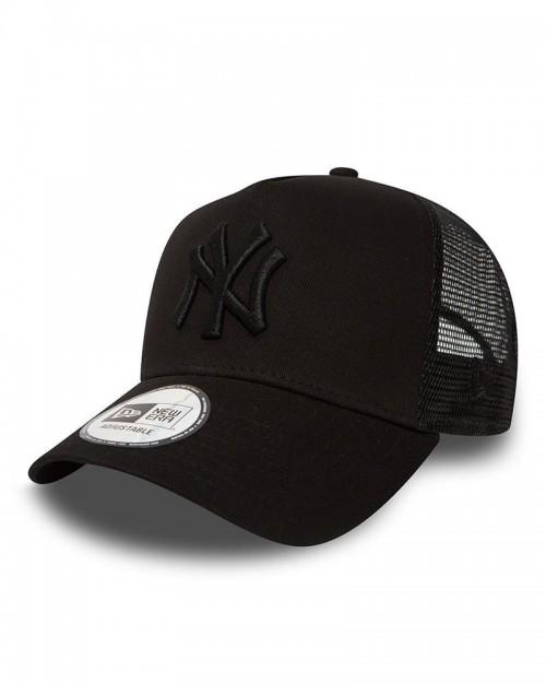 NEW ERA 9FORTY New York Yankees Black On Black Trucker